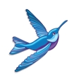 Blue hummingbird vector image