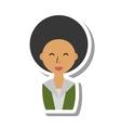 businesswoman avatar elegant isolated icon vector image