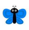 butterfly flying insect icon cute bug cartoon vector image