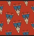 camping tent badges pattern with pennants vector image