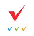 check mark graphic design element template vector image