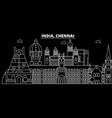 chennai silhouette skyline india - chennai vector image vector image