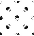 cloud and snowflakes pattern seamless black vector image vector image