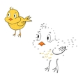 Connect the dots game chicken vector image