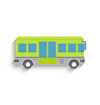 Cool modern flat design public transport items bus vector image