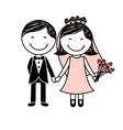 couple wedding icon vector image