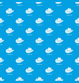 cowboy hat pattern seamless blue vector image vector image