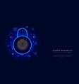 cyber security business concept on abstract vector image vector image