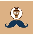 doggy hipster concept mustache style vector image