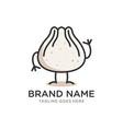 dumpling cartoon mascot logo vector image
