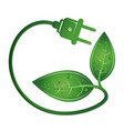 eco electric plug symbol vector image