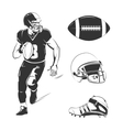 elements for american football labels vector image