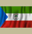 equatorial guinea realistic waving flag national vector image vector image