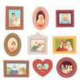 family portraits photos kids and parents vector image vector image