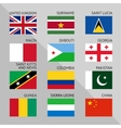 Flags of world flat Set number 07 vector image vector image