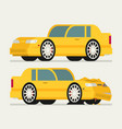 flat car vehicle before and after car crash road vector image vector image