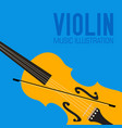 flat colorful violin background concept vector image