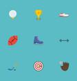 flat icons kettlebells american football puck vector image vector image