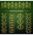 Golden decorative seamless borders vector image