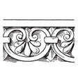 graeco-italic cresting border is a valence-like vector image vector image