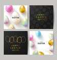 happy easter set cardsbeautiful background vector image vector image