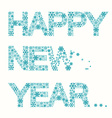 Happy New Year Title - Snowflakes Slogan Isolated vector image vector image