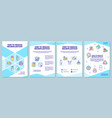 how to reduce microplastic brochure template vector image vector image