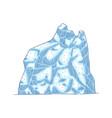 iceberg mountain vector image vector image