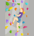 indoor rock climber vector image