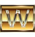 Ingot Font Letter W vector image