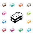 isolated sandwich icon toast element can vector image vector image