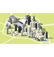 Isometric low poly La Defense district map vector image vector image