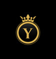 letter y royal crown luxury logo design vector image vector image