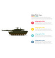 Main tank battle infographics template with 4
