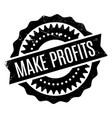 make profits rubber stamp vector image vector image