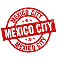mexico city red round grunge stamp vector image vector image
