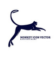 monkey design silhouette monkey vector image vector image