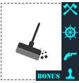 mop bucket icon flat vector image