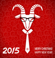 New year red card with goat business greeting card vector image