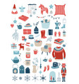 nordic scandinavian winter elements and hygge vector image vector image