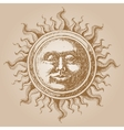Old-fashioned sun decoration vector image vector image