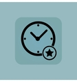 Pale blue best time icon vector image vector image