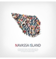 people map country Navassa Island vector image vector image