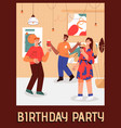 poster birthday party at home concept vector image vector image
