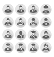 profession icon with long shadow vector image vector image