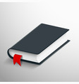 realistic blank book with a bookmark vector image
