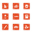 school expenses icons set grunge style vector image vector image