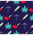 seamless background with symbols of drug addiction vector image vector image
