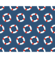 Seamless sea pattern White lifebuoy on blue vector image vector image