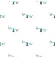 Seesaw icon in cartoon style isolated on white vector image